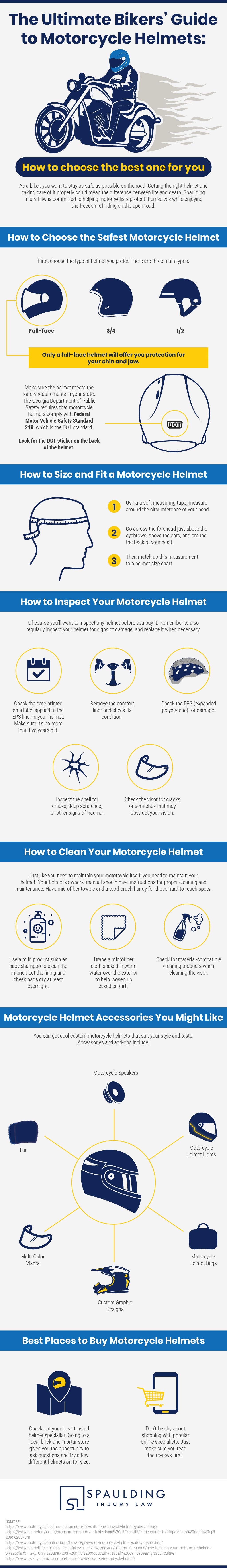 Spaulding Injury Law - The Ultimate Bikers' Guide to Motorcycle Helmets