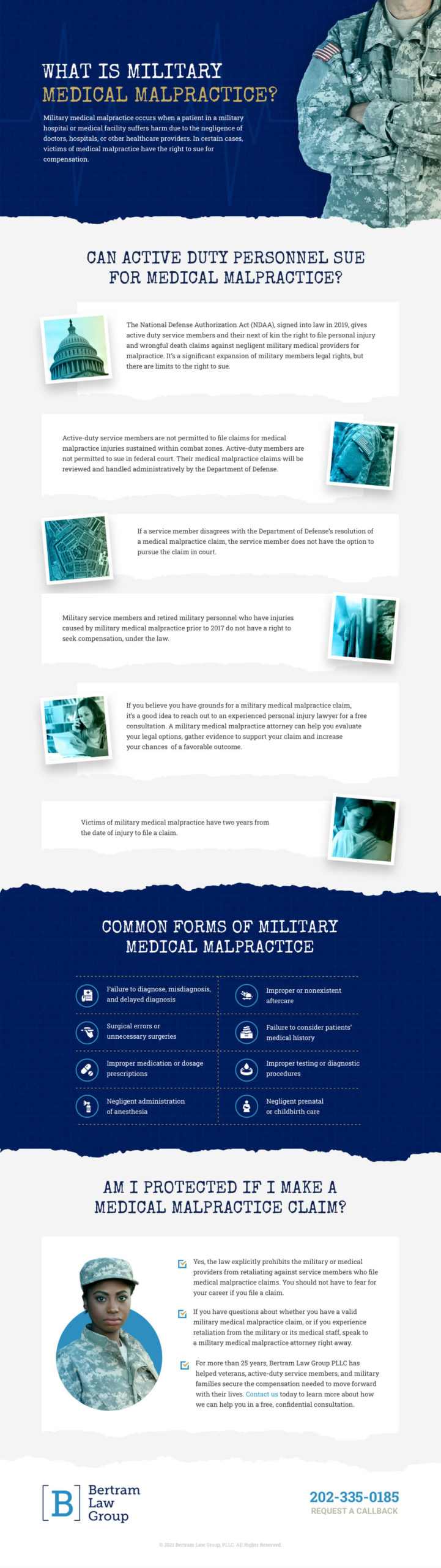 Military Medical Malpractice Infographic – Bertram Law Group PLL