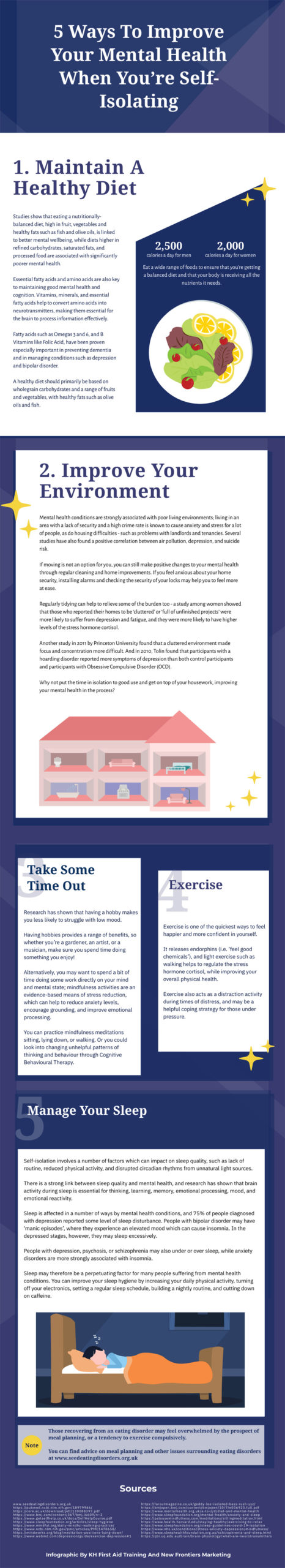 5 ways to improve your mental health when youre self isolating infographic