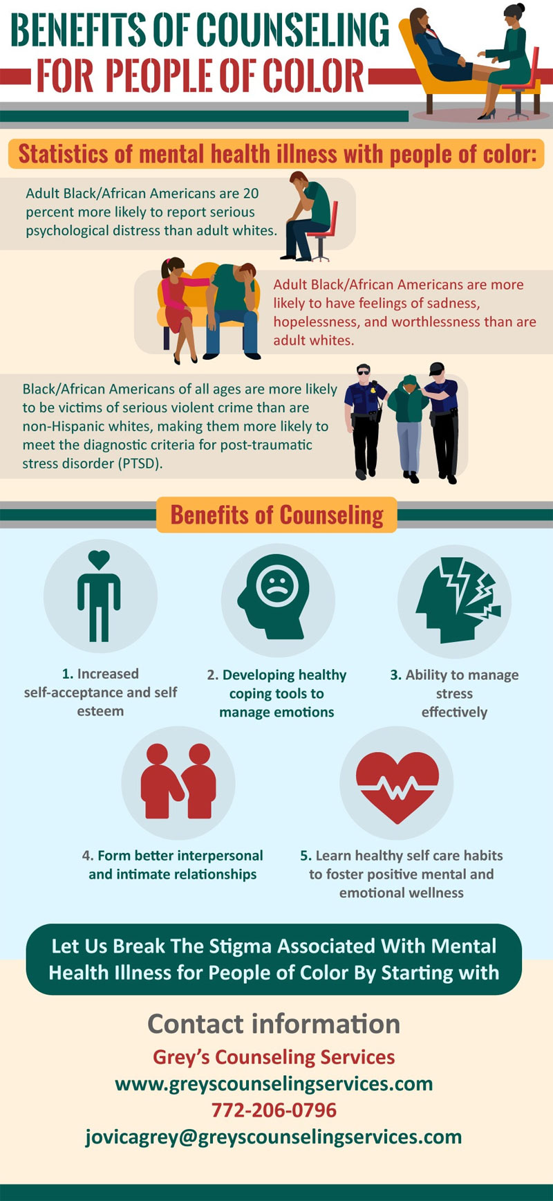 benefit of counseling for people of color