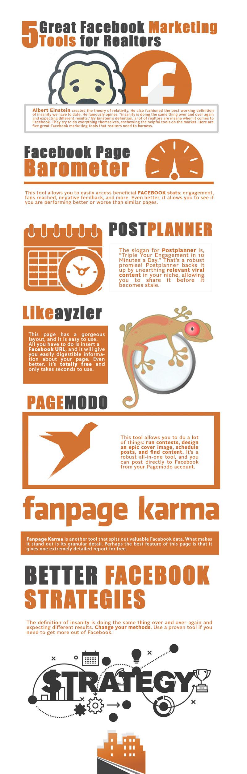 facebook marketing tools realtors infographic