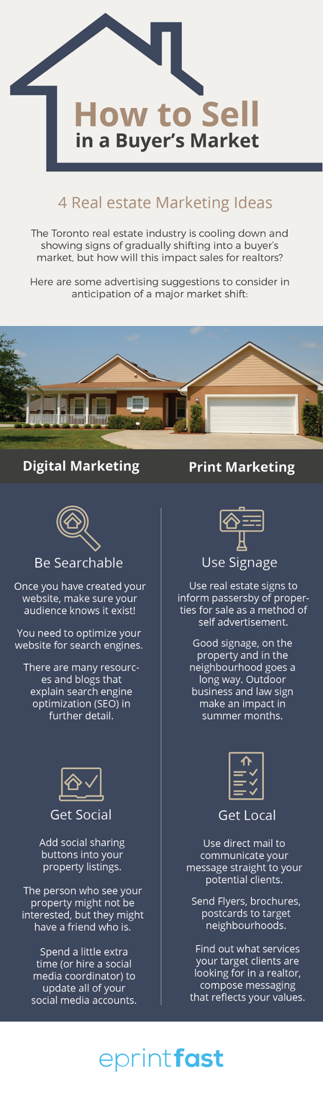 how to sell buyers market infographic