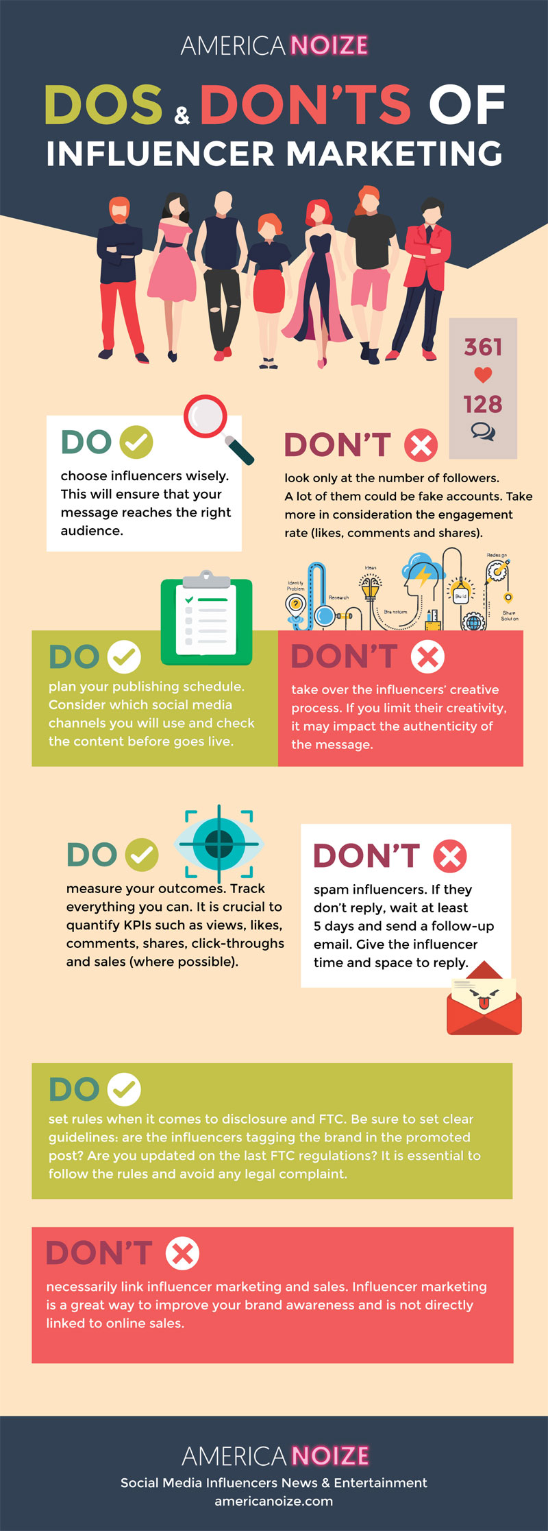 influencer marketing dos donts infographic