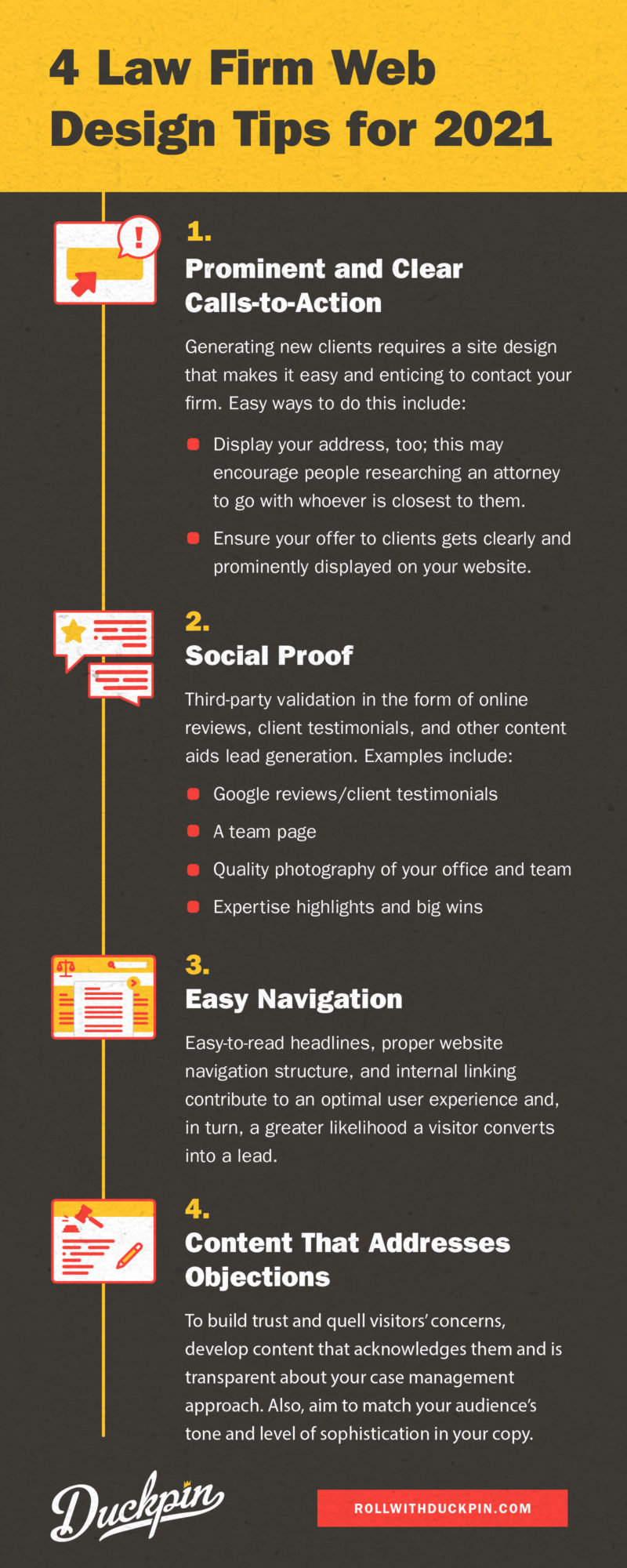 law firm web design tips infographic