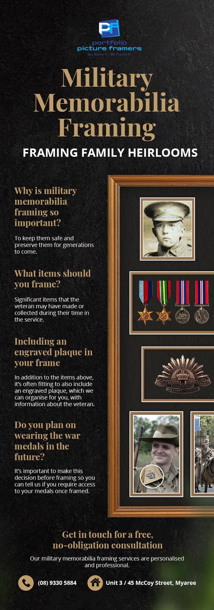 military memorabilia framing infographic pp 2048x2048